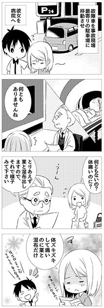 腰部捻挫(腰痛)の漫画